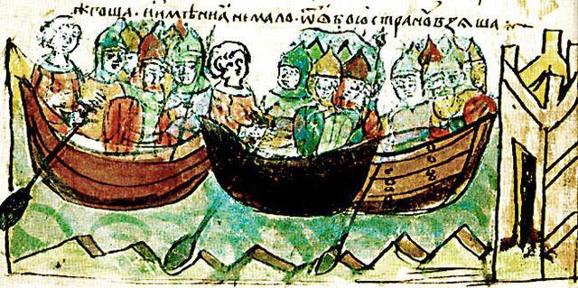 Поход Игоря. Иллюстрация из Радзивилловской летописи