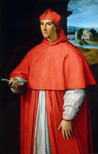 Pope Paul III - Portrait of Cardinal Alessandro Farnese, later Pope Paul III,  by Raphael, 1509–1511 (Museo di Capodimonte, Naples).