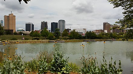 View of Birmingham from Railroad Park Railroad Park, Birmingham.jpg