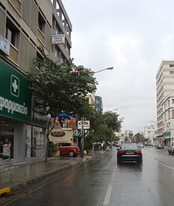 Raining in Pallouriotissa downtown Nicosia Republic of Cyprus.jpg
