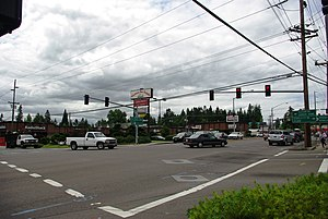 Raleigh Hills, Oregon - Beaverton-Hillsdale Highway and Scholls Ferry Road