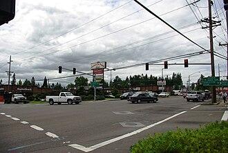 Raleigh Hills, Oregon - Beaverton-Hillsdale Highway and Scholls Ferry Road