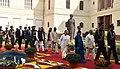 Ram Nath Kovind, the Vice President, Shri M. Venkaiah Naidu, the Prime Minister, Shri Narendra Modi, the Speaker, Lok Sabha, Smt. Sumitra Mahajan and the Union Minister for Chemicals & Fertilizers and Parliamentary Affairs (1).jpg