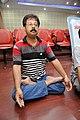 Ranabir Biswas in Kapalabhati - International Day of Yoga Celebration - NCSM - Kolkata 2015-06-21 7428.JPG