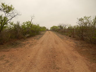 Maverick County, Texas - Ranch road in Maverick County