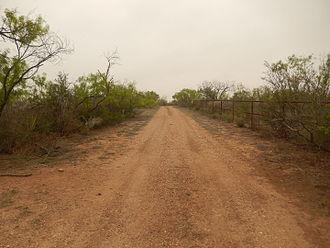 Maverick County, Texas - Ranch road in Maverick County