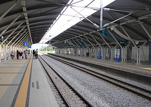 Rasa Komuter station - A platform view of the Rasa station.