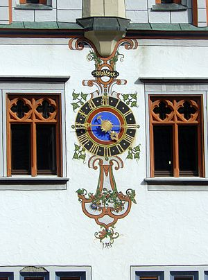 Bad Waldsee - Town hall clock