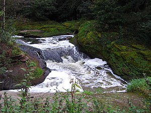 River Darwen - Waterfall on the River Darwen near Coup Green