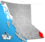 Regional District of East Kootenay, British Columbia Location.png