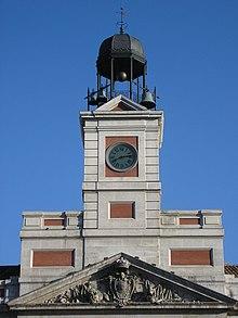 Historia de la puerta del sol wikipedia la enciclopedia for Fotos reloj puerta del sol madrid