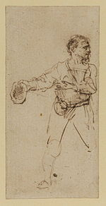 Rembrandt Man Standing, a Cap in his Outstretched Right Hand.jpg