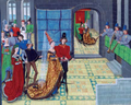 Renaut et Clarice - Loyset Liédet - Roman de Renaut de Montauban - Arsenal 5073 f117v.png