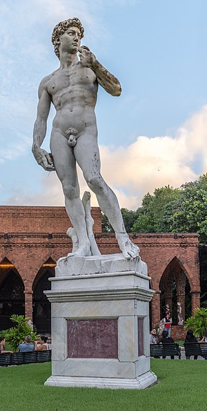 Replicas of Michelangelo's David - A marble replica at the Instituto Ricardo Brennand in Recife, Brazil