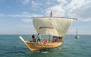 Ma'agan Michael Ship - Replica in full size of the Ma'agan Michael Ship. The ship that was built by Prof. Yaacov Kahanov and a team from University of Haifa, was launched on December 2016