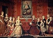 Retrato de familia Fagoga Arozqueta - Anónimo ca.1730