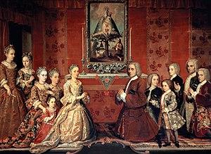 Upper class - Image: Retrato de familia Fagoga Arozqueta Anónimo ca.1730