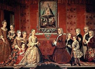 Criollo people - Image: Retrato de familia Fagoga Arozqueta Anónimo ca.1730