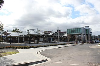 Revesby railway station - Station from south in December 2012