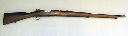 Mauser 1895 bolt-action rifle (at the Auckland Museum) Rifle, bolt action (AM 1930.61-17).jpg
