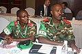 Right is Col. Bigirimana Ildephonse, Deputy Commander Sector 5 and Lt. Col Hakizimana Celestine Deputy FHQ CIMIC (16035061578).jpg