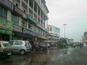 Pathanamthitta - A rainy day in Pathanamthitta town, photographed near the ring road