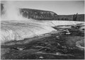 "River in foreground, Trees behind, ""Firehole River, Yellowstone National Park,"" Wyoming - NARA - 520004.tif"
