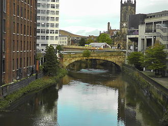 Manchester - River Irwell from Blackfriar's Bridge