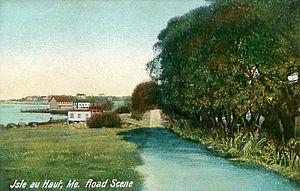Isle au Haut, Maine - Road scene c. 1907