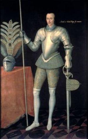 Robert Radclyffe, 5th Earl of Sussex - Robert Radclyffe, c.1590.