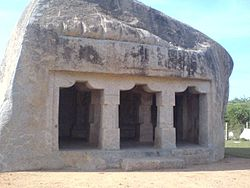 Single rock cut temple by Pallava Varman