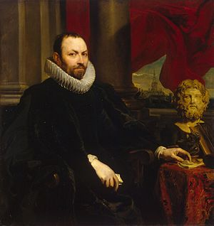 Rockox House - Portrait of Sir Nicolaas II Rockox, painted by van Dyck