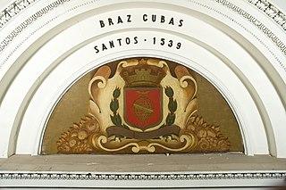 Brasão com Armas de Santos
