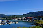 Rognan with seaside seen from Vikveien.jpg