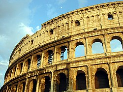 Original façade of the Colosseum.