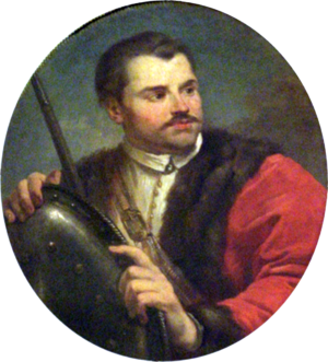 Roman Sanguszko (died 1571) - A posthumous portrait of Roman Sanguszko by Marcello Bacciarelli, 1781 - it is one of the images of Famous Poles from the Knight's Hall at the Royal Castle, Warsaw.