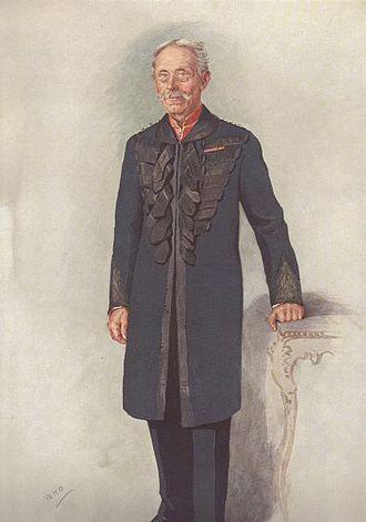 """R. E. B. Crompton - """"The Road Builder"""" Crompton as caricatured in Vanity Fair, August 1911"""