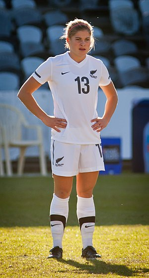 Rosie White - White playing for New Zealand in 2011