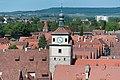 Rothenburg ob der Tauber, Kummereck, Weißer Turm, vom Rathausturm 20170526 011.jpg