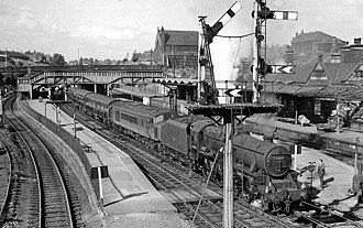 Rotherham Masborough railway station - The station in 1963