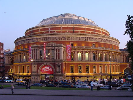 The Hall from Kensington Gardens during the 2008 Proms Royal Albert Hall.001 - London.JPG