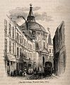 Royal College of Physicians, Warwick Lane, London, in 1841. Wellcome V0013097.jpg