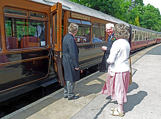 Lancashire and Yorkshire Railway - LYR Blackpool - Manchester Club saloon of 1912 in contemporary colours