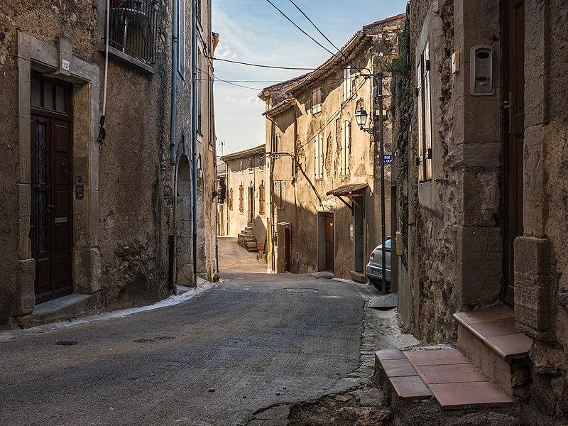 Paul Cuny Street seen from Southeast. Murviel-lès-Béziers, Hérault, France.