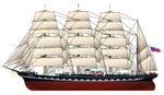 Russian tallship Kruzenstern.png