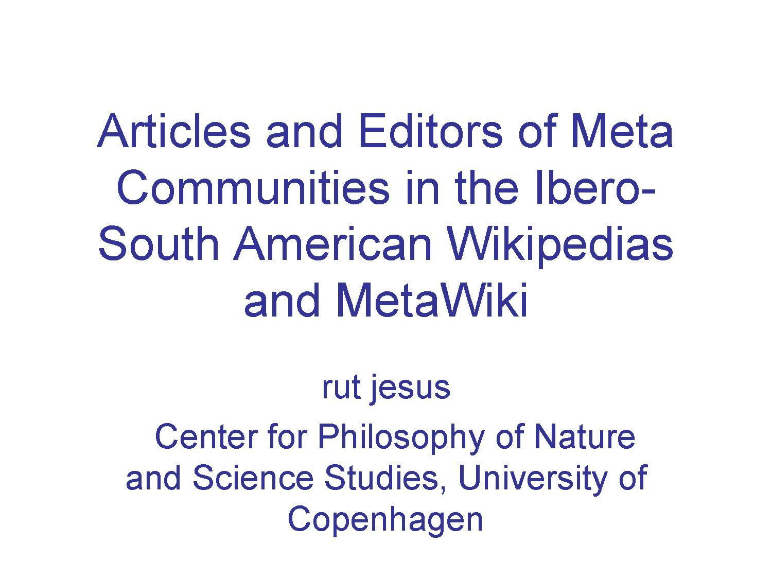 Rut Jesus - Wikimania 2009 - Articles and Authors of Meta Communities.pdf
