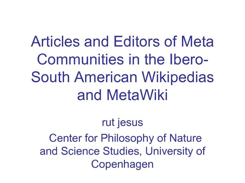 File:Rut Jesus - Wikimania 2009 - Articles and Authors of Meta Communities.pdf