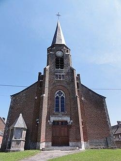Sémeries (Nord, Fr) église façade.jpg
