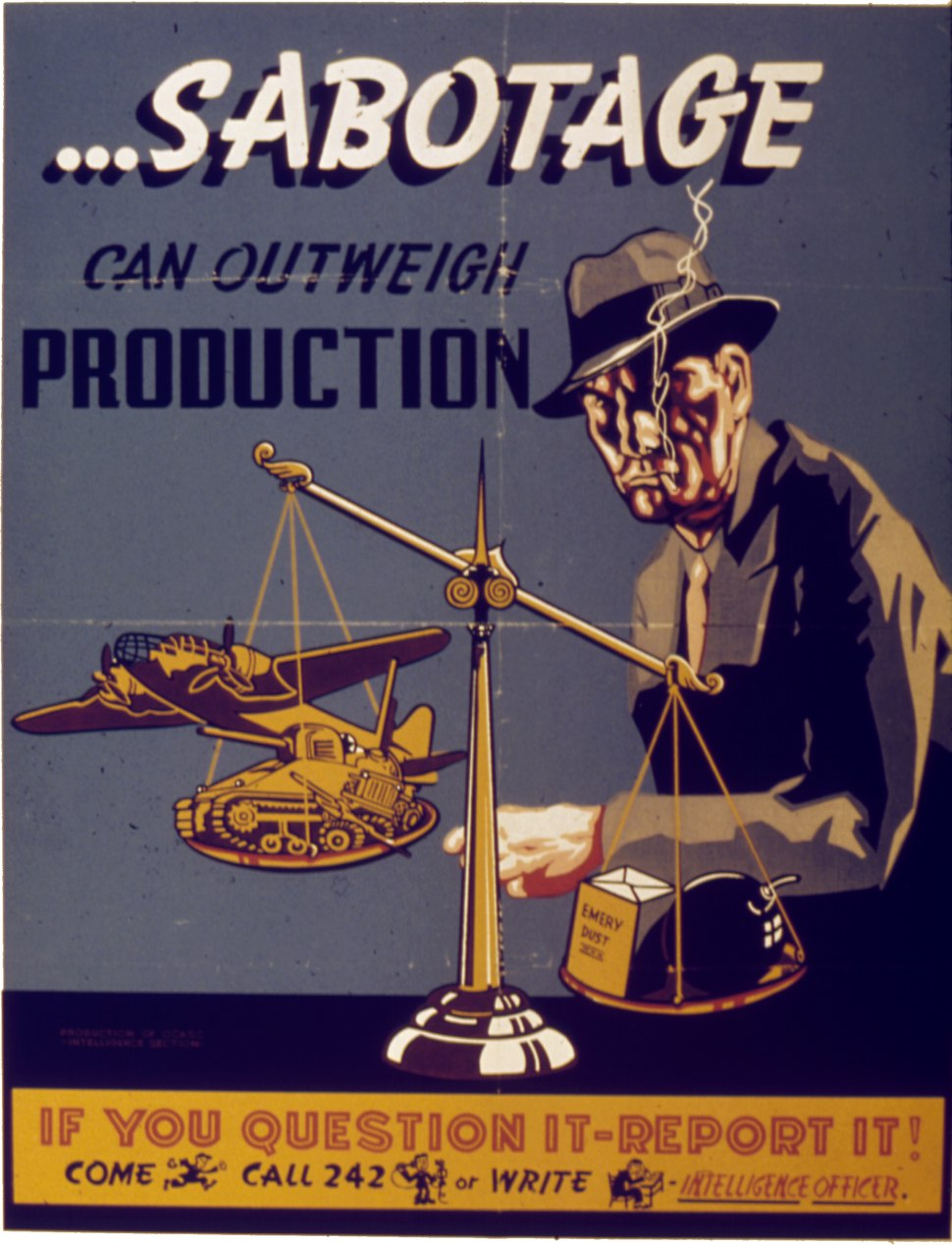 SABOTAGE CAN OUTWEIGH PRODUCTION - NARA - 515321