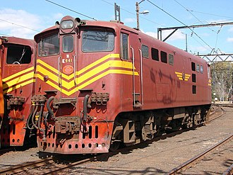 South African Class 5E1, Series 5 - No. E941, with rounded corners, at Ladysmith, KwaZulu-Natal, 5 August 2007